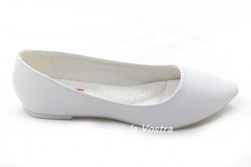 Балетки женские Yes mile 5988 (весна-лето-осень, белый, эко-кожа)