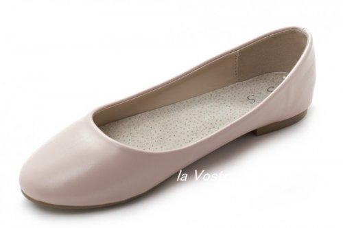 Балетки женские S.S 2343 (весна-лето-осень, розовый)