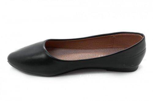 Балетки женские Bolsder 2258 (весна-лето-осень, черный, эко-кожа)