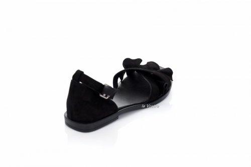 Босоножки женские Ladi 7756 (лето, черный, замш)