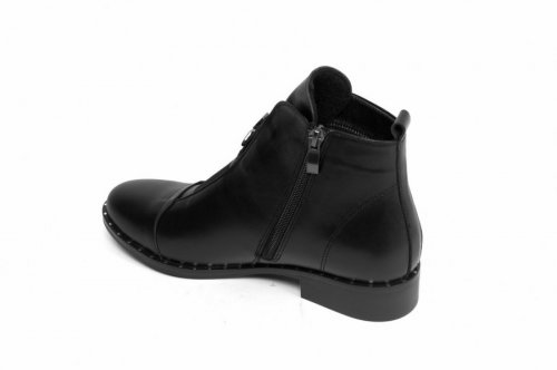 Ботинки женские Днепр 026 (весенне-осенние, черный, кожа)
