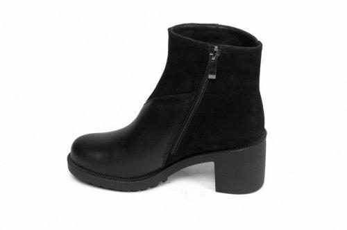 Ботинки женские Devis 164чк (весенне-осенние, черный, кожа)