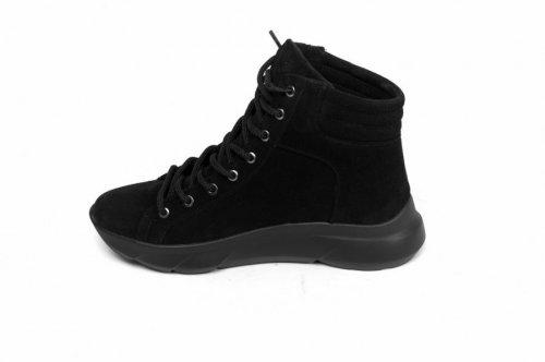 Ботинки женские Devis 5507 (весенне-осенние, черный, замш)