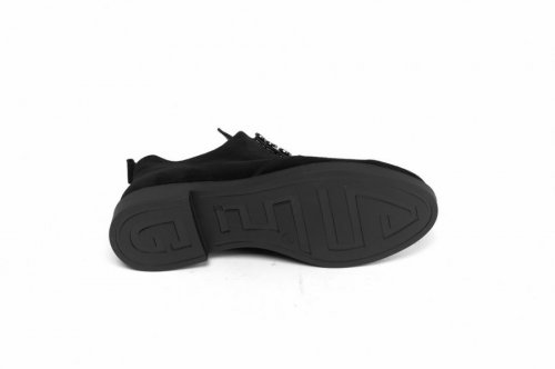 Ботинки женские Днепр Нюра чз (весенне-осенние, черный, замш)