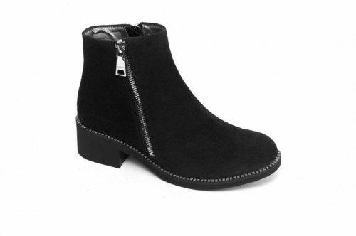 Ботинки женские Esve stule  5502 (весенне-осенние, черный, замш)