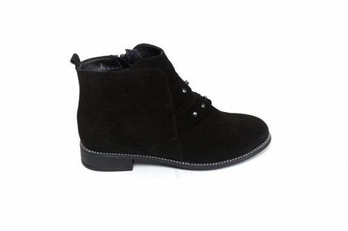 Ботинки женские Vlamal V-60чз (весенне-осенние, черный, замш)