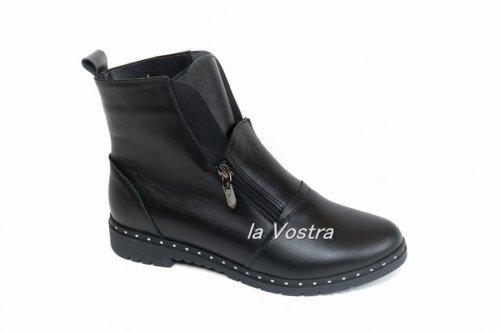 Ботинки женские Ameli 134 (весенне-осенние, черный, кожа)