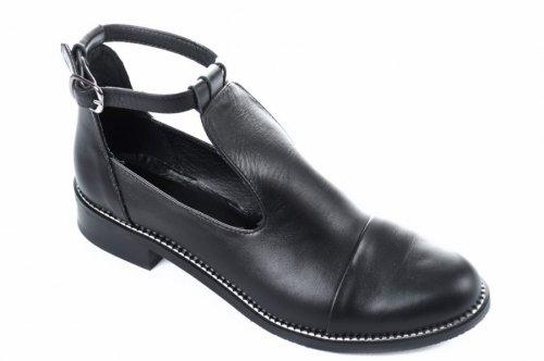 Ботинки женские Marko Rosi 5654 (весна-лето-осень, черный, кожа)