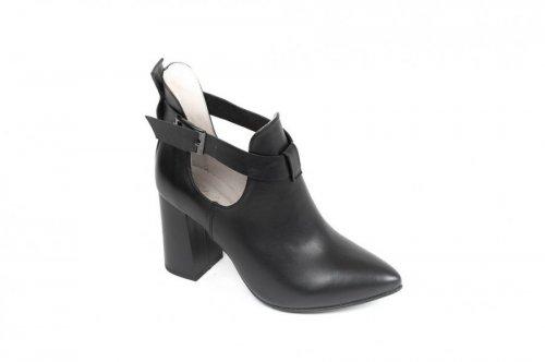 Ботинки женские Style-N 85850чк (весенне-осенние, черный, кожа)