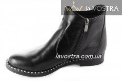 Ботинки женские Днепр 2126 (весенне-осенние, черный, кожа)