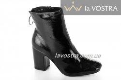 Ботинки женские Seastar 6705 (весенне-осенние, черный, эко-лак)
