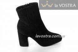 Ботинки женские Seastar 6711 (весенне-осенние, черный, эко-замш)