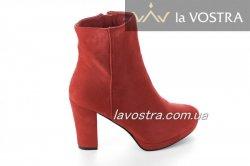 Ботинки женские Seastar 6704 (весенне-осенние, красный, эко-замш)