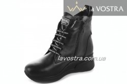 Ботинки женские Днепр 6773 (зимние, черный, кожа)