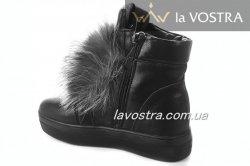 Ботинки женские ITTS 6786 (зимние, черный, кожа)