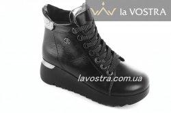 Ботинки женские Stule-M 6741 (зимние, черный, кожа)
