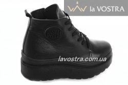 Ботинки женские Днепр 6778 (зимние, черный, кожа)