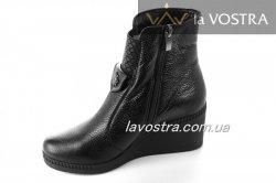 Ботинки женские Sezar 2108 (зимние, черный, кожа)