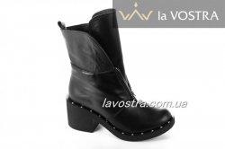Ботинки женские Sezar 5267 (зимние, черный, кожа)