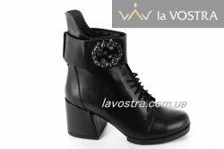 Ботинки женские Днепр 5354 (зимние, черный, кожа)