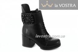 Ботинки женские Днепр 5186 (зимние, черный, кожа)