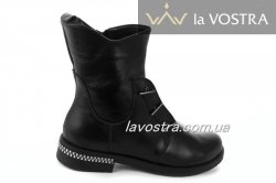 Ботинки женские Днепр 5185 (зимние, черный, кожа)