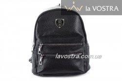 Рюкзак жіночий 7057 (чорний, еко-шкіра)