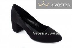 Туфлі жіночі Seastar 7082 (весна-літо-осінь, чорний, еко-замш)