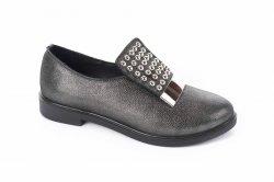 Туфли женские Medium 5559 (весенне-осенние, сатин, кожа)