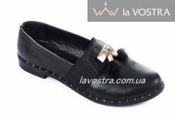Туфлі жіночі Дніпро 4709 (весняно-осінні, чорний, шкіра)