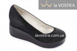 Туфлі жіночі Дніпро 4756 (весняно-осінні, чорний, замш)
