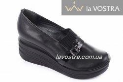 Туфли женские Sezar 5639 (весенне-осенние, черный, кожа)