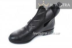 Ботинки женские Днепр 2668 (весенне-осенние, черный, кожа)