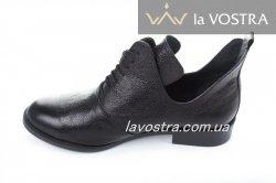 Ботинки женские Днепр 2881 (весенне-осенние, черный, кожа)