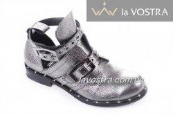 Туфлі жіночі Дніпро 4989 (весняно-осінні, срібло)
