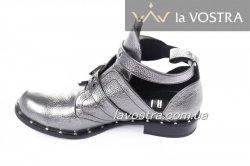 Ботинки женские Днепр 4989 (весенне-осенние, серебро)