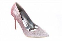 Туфли женские Yes mile 7104 (весенне-осенние, шампань, эко-кожа)