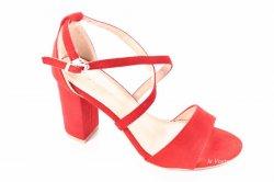 Босоніжки жіночі Seastar 7120 (літо, червоний, еко-замш)