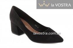 Туфлі жіночі Seastar 5352 (весняно-осінні, чорний, еко-замш)
