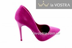 Туфлі жіночі Comer 5883 (весна-літо-осінь, пурпурний, еко-замш)