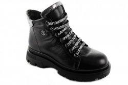 Ботинки женские Maria Sonet 6883 (зимние, черный, кожа)