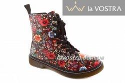 Ботинки женские Yes mile 6924 (весенне-осенние, красный, эко-кожа)