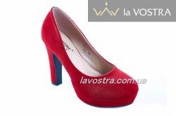 Туфлі жіночі Seastar 4928 (весна-літо-осінь, червоний, еко-замш)