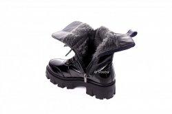 Ботинки женские Lady 7413 (зимние, черный, лак)
