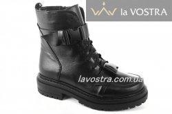 Ботинки женские Днепр 6862 (зимние, черный, кожа)
