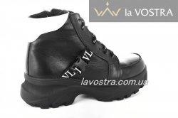 Ботинки женские Haries 6770 (зимние, черный, кожа)