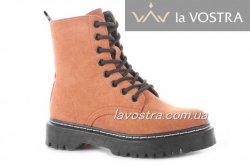 Ботинки женские Weide 6888 (зимние/европейка, кемел, эко-замш)