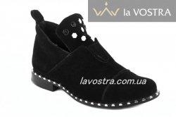 Ботинки женские Ladi 5474 (весенне-осенние, черный, замш)