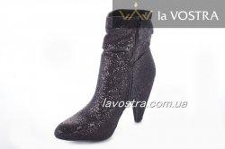 Ботинки женские Sezar 2130 (весенне-осенние, черный, эко-кожа)