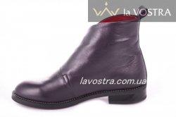 Ботинки женские Днепр 2683 (весенне-осенние, феолетовый, кожа)